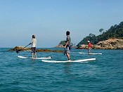 SUPing on Tioman's crystal-clear sea